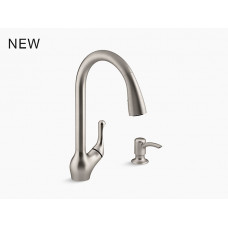 Barossa K-R78035-SD Touchless Pull-Down Kitchen Sink Faucet